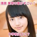 清原果耶(きよはらかや)の英語の歌!身長・体重と中学校はどこ?