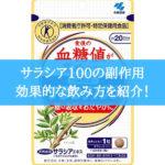 サラシア100の効果的な飲み方と副作用|口コミ・評判を紹介!