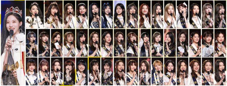SNH48メンバーを一覧にまとめた